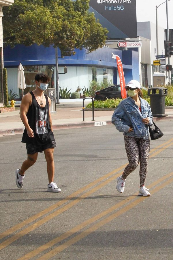Addison Rae Pictured while out for her workout in Los Angeles 08