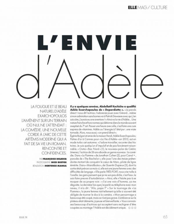 Adele Exarchopoulos Elle magazine France 2020 07