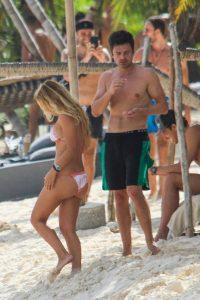 Alejandra Onieva and Sebastian Stan Bikini Candids in Tulum Mexico 11