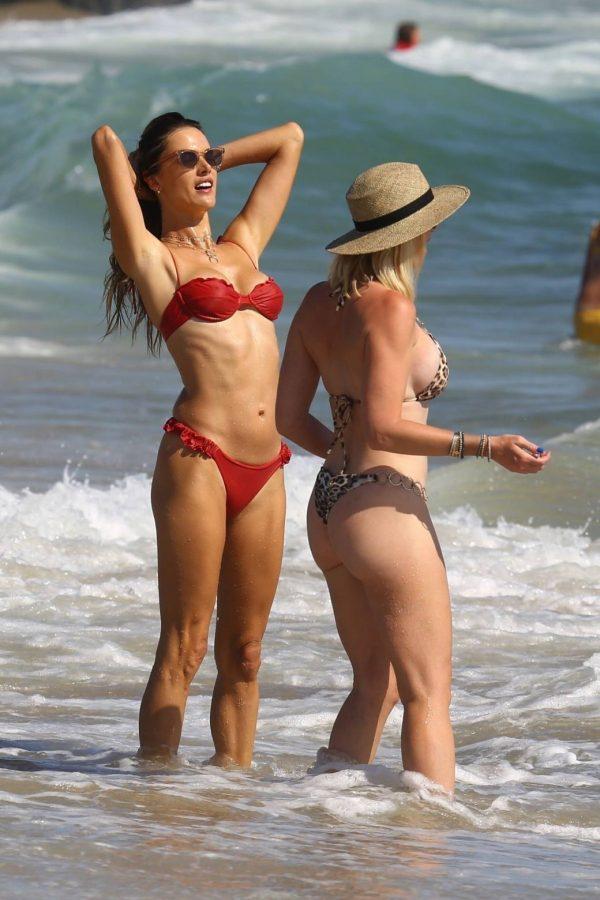 Alessandra Ambrosio In bikini at a Beach in Malibu 10