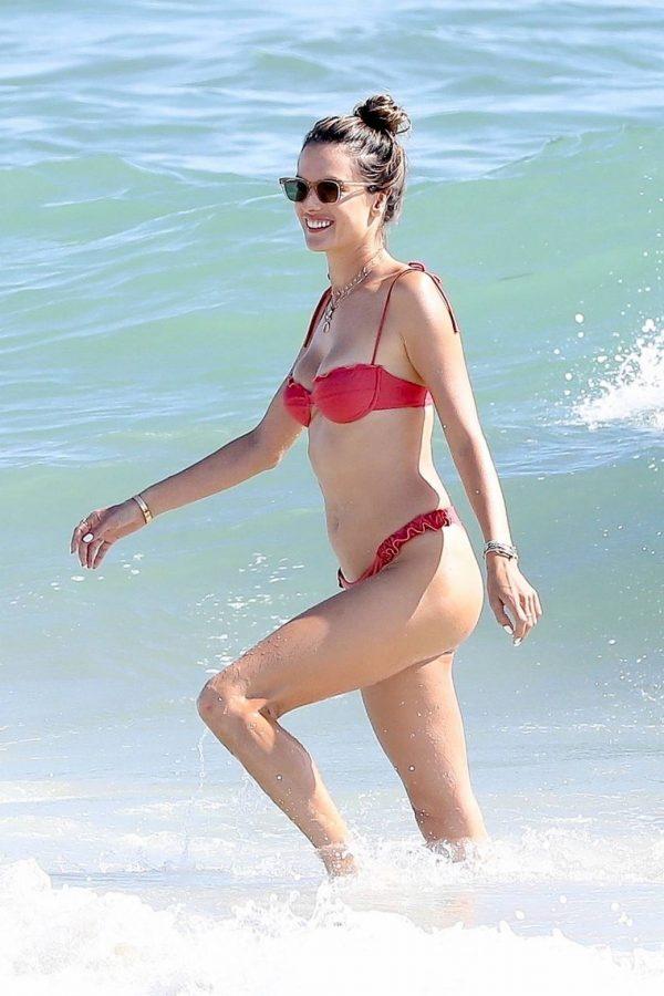 Alessandra Ambrosio In bikini at a Beach in Malibu 13