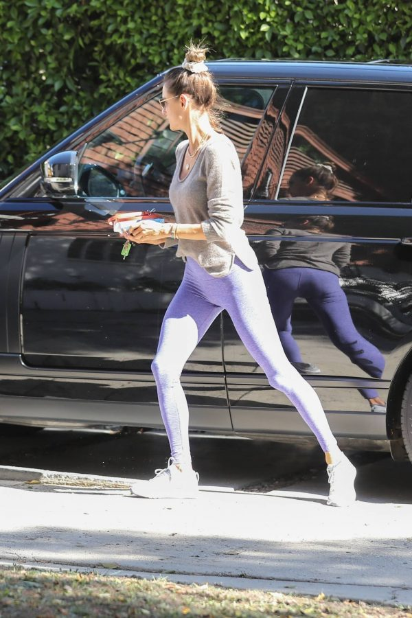 Alessandra Ambrosio Seen while arriving at a Pilates Studio in Los Angeles 15