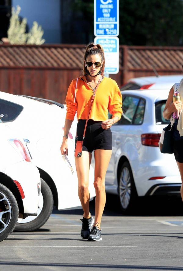 Alessandra Ambrosio Spotted while going to a gym in West Hollywood 05