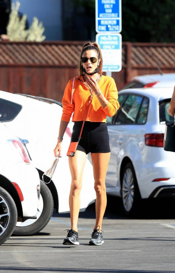 Alessandra Ambrosio Spotted while going to a gym in West Hollywood 08
