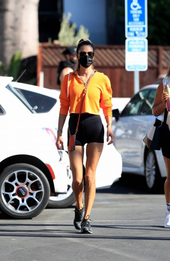 Alessandra Ambrosio Spotted while going to a gym in West Hollywood 12