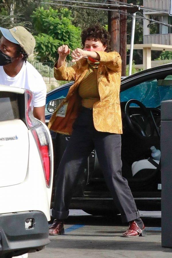 Alia Shawkat At a local gas station in Los Feliz 01
