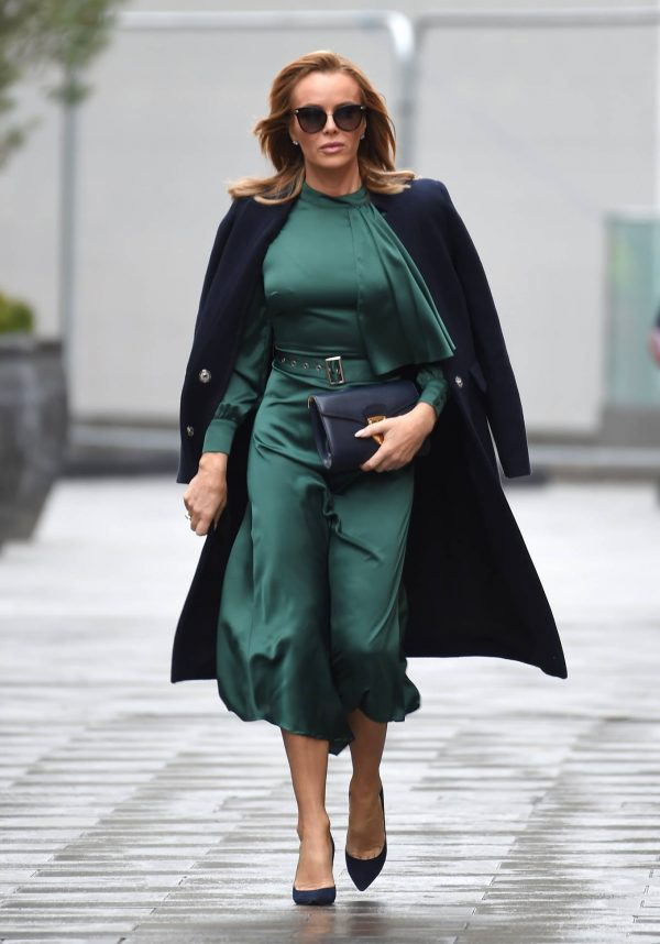 Amanda Holden In green dress at Global Studios in London 03