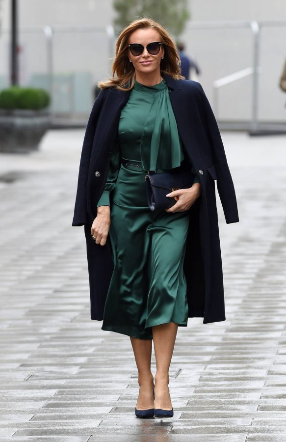 Amanda Holden In green dress at Global Studios in London 04