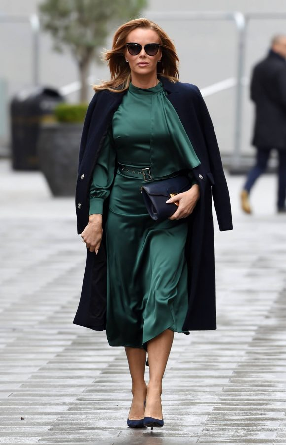 Amanda Holden In green dress at Global Studios in London 05