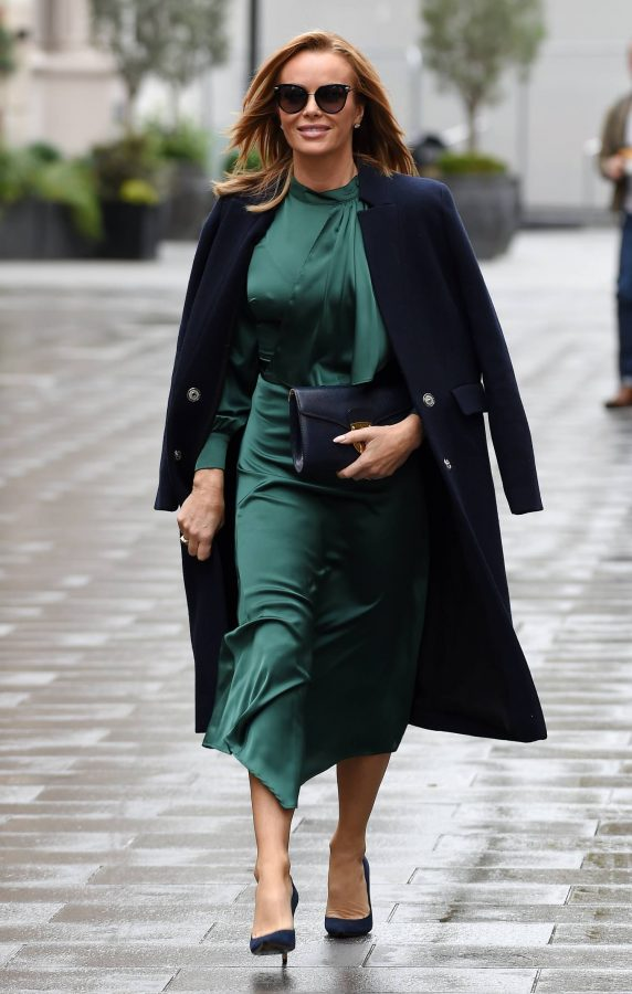 Amanda Holden In green dress at Global Studios in London 08