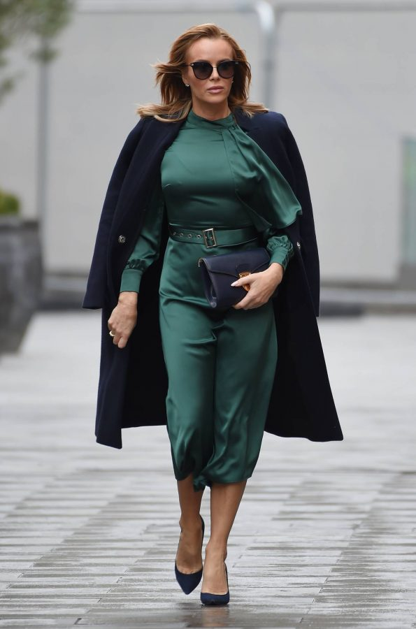 Amanda Holden In green dress at Global Studios in London 09