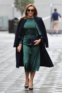 Amanda Holden In green dress at Global Studios in London 10