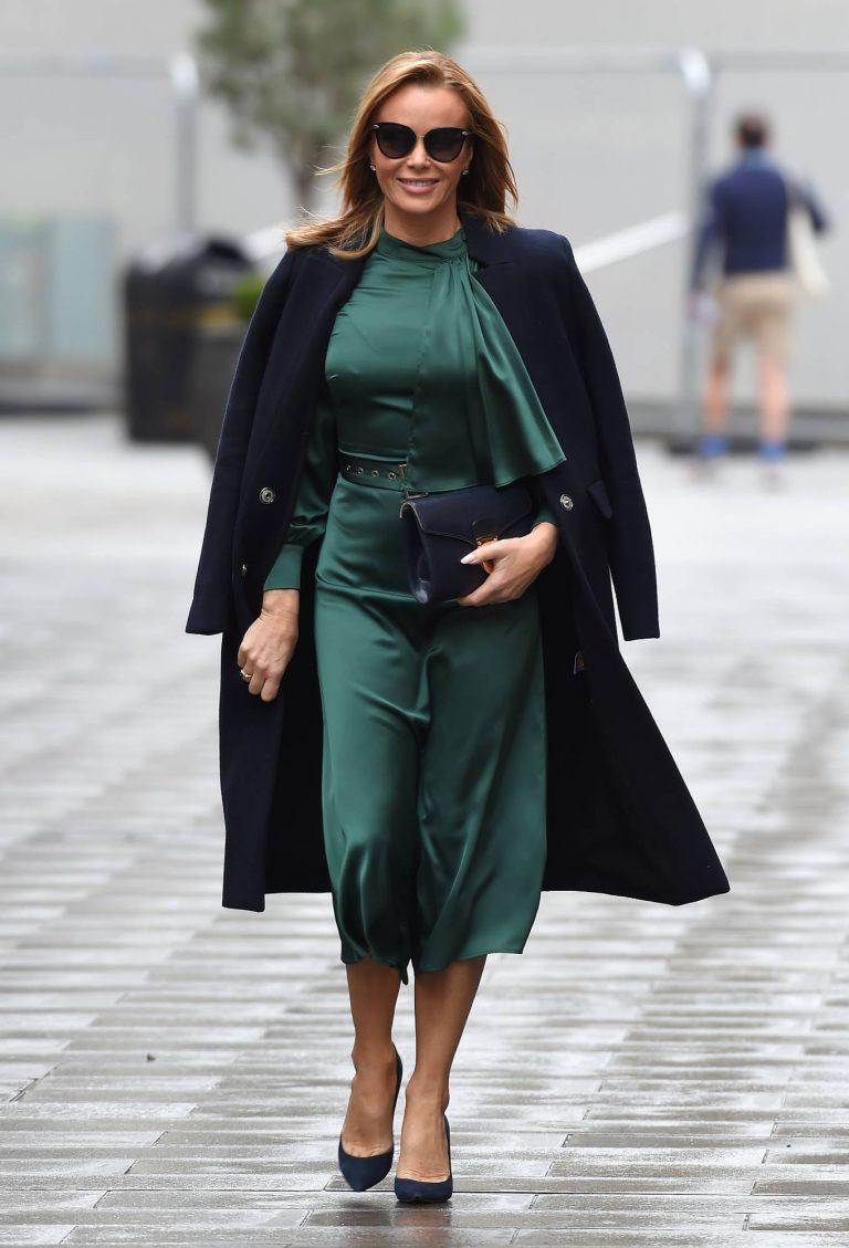 Amanda Holden In green dress at Global Studios in London 10