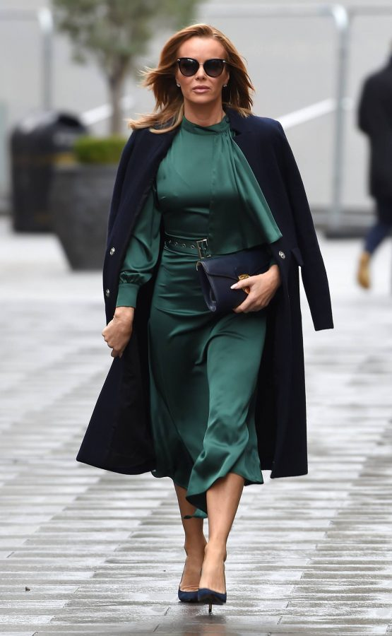 Amanda Holden In green dress at Global Studios in London 12