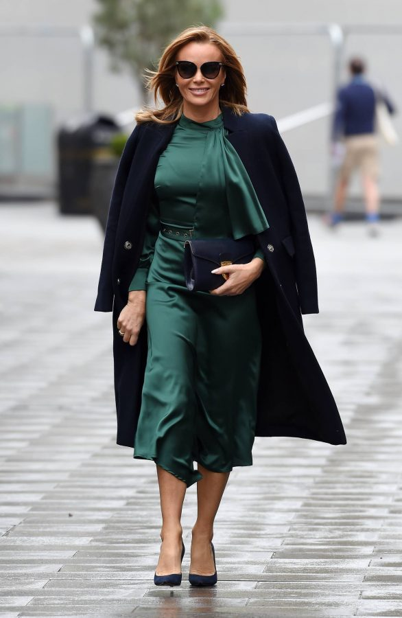 Amanda Holden In green dress at Global Studios in London 13