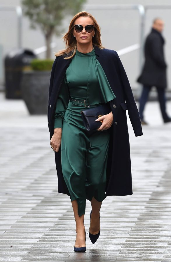 Amanda Holden In green dress at Global Studios in London 14
