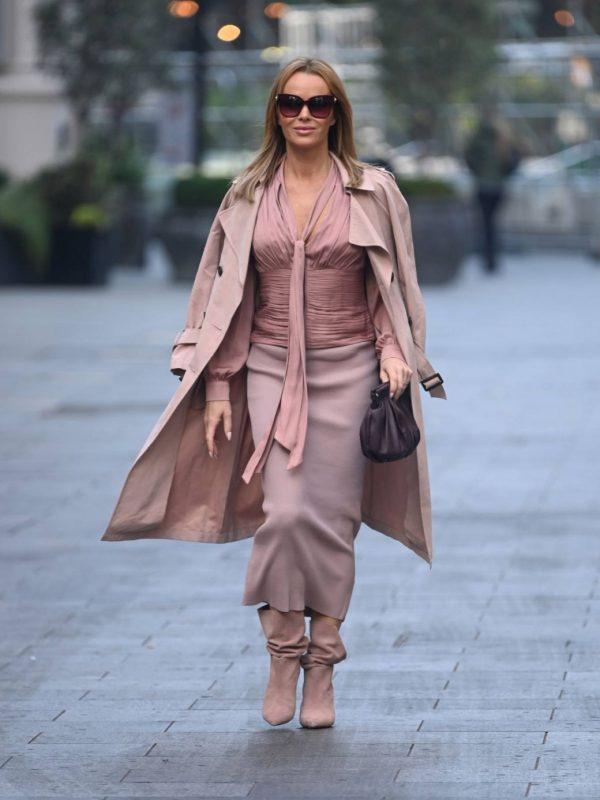 Amanda Holden Look stylish while leaving Global Studios in London 03
