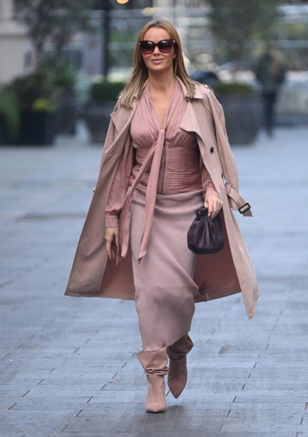 Amanda Holden Look stylish while leaving Global Studios in London 06