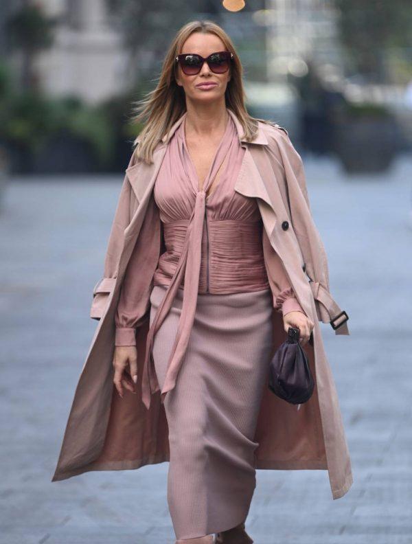 Amanda Holden Look stylish while leaving Global Studios in London 07
