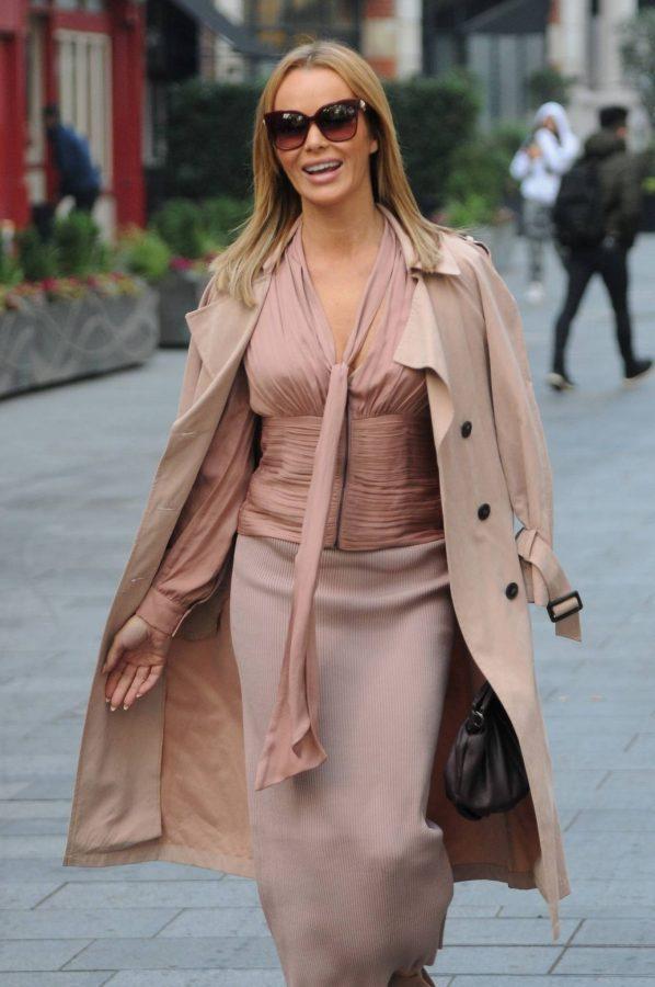 Amanda Holden Look stylish while leaving Global Studios in London 08
