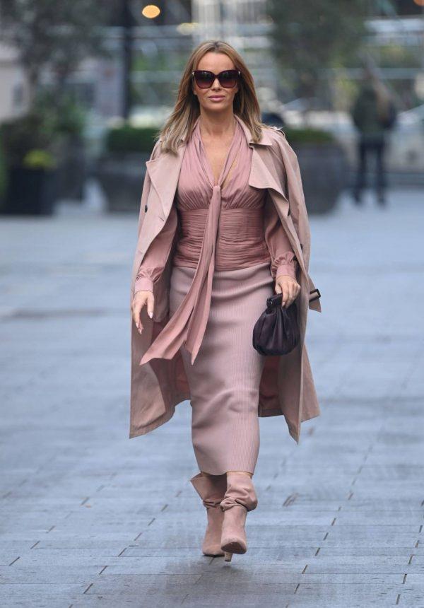 Amanda Holden Look stylish while leaving Global Studios in London 09
