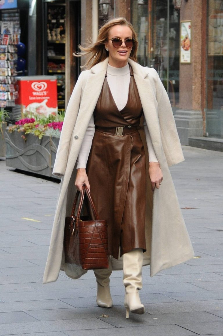 Amanda Holden Pictured after the Heart Breakfast show in London 02