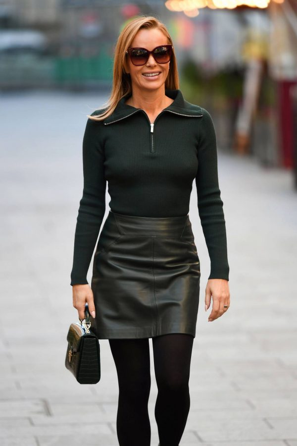 Amanda Holden Pictured leaving the Global studios in London 02