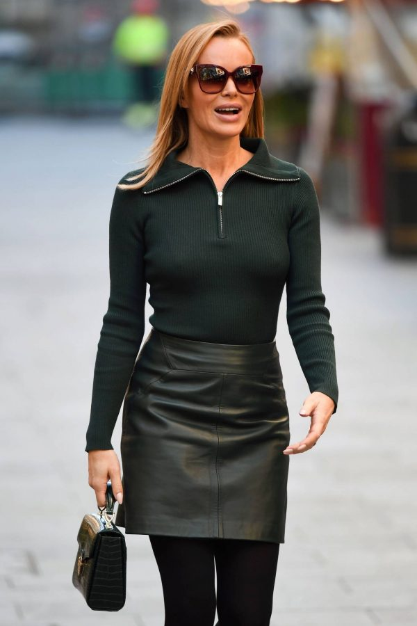 Amanda Holden Pictured leaving the Global studios in London 03