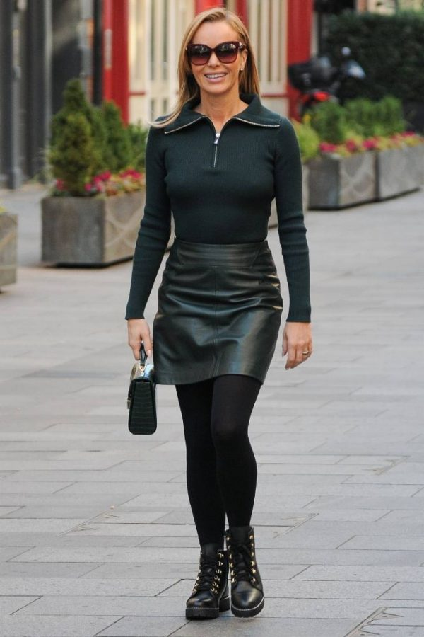 Amanda Holden Pictured leaving the Global studios in London 13