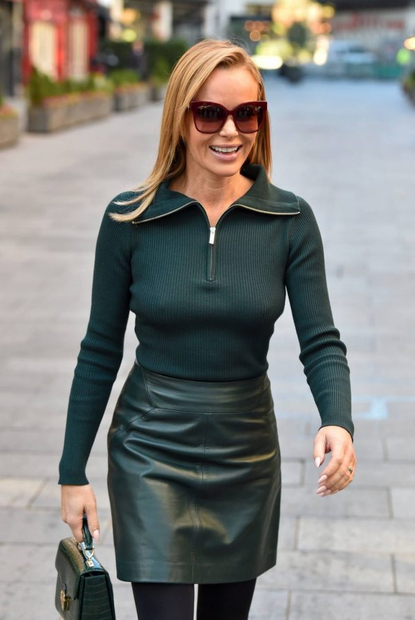 Amanda Holden Pictured leaving the Global studios in London 15