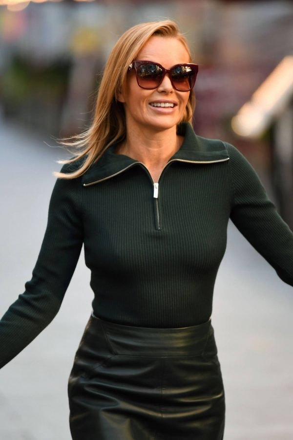 Amanda Holden Pictured leaving the Global studios in London 17