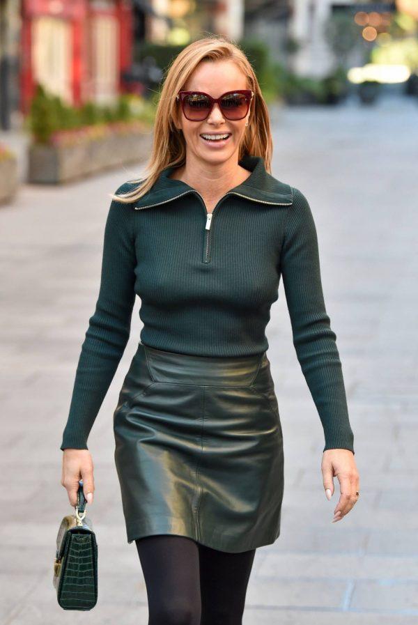 Amanda Holden Pictured leaving the Global studios in London 19