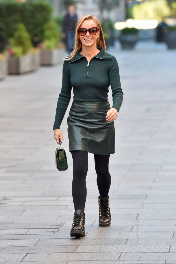 Amanda Holden Pictured leaving the Global studios in London 21