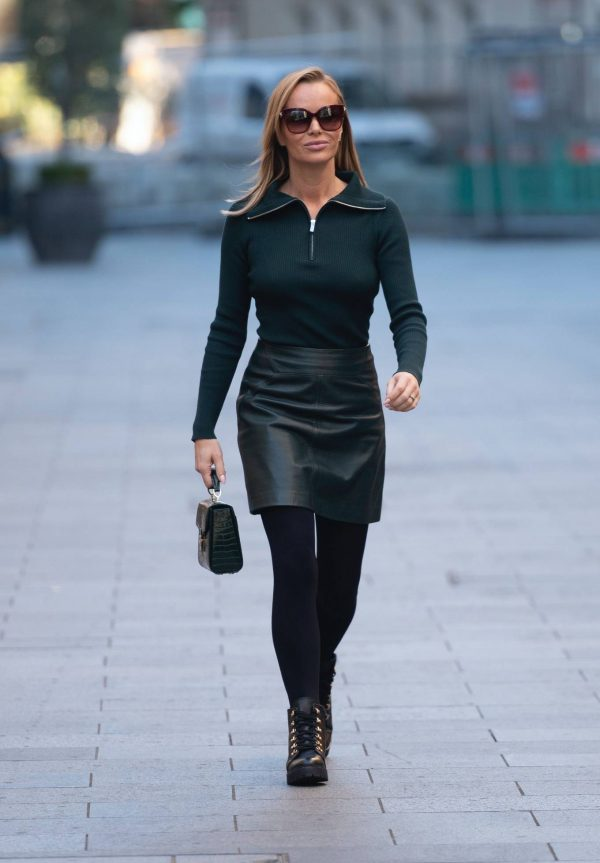 Amanda Holden Pictured leaving the Global studios in London 22