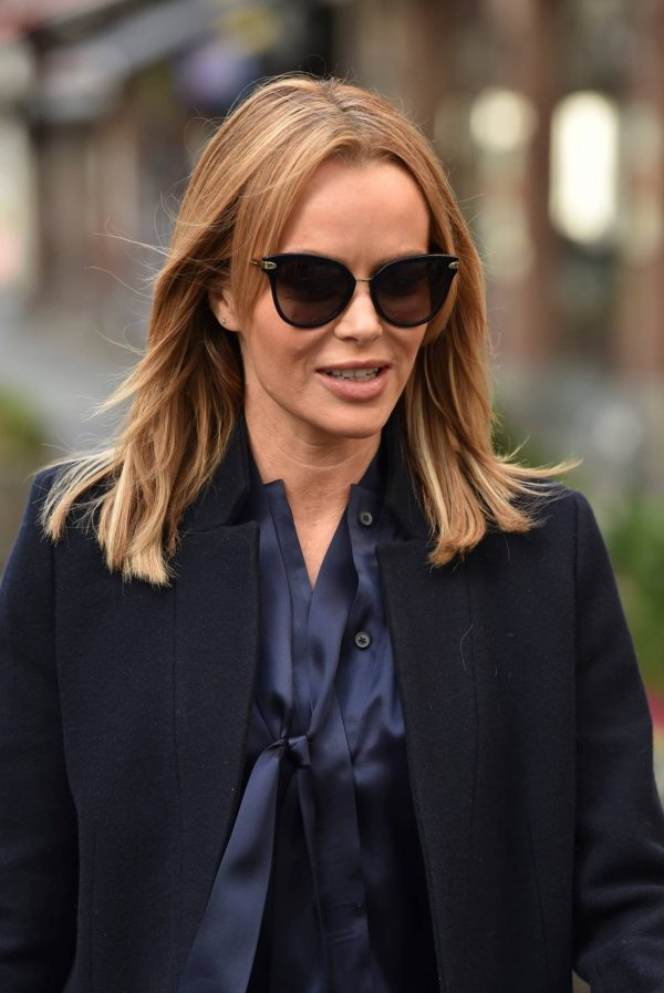 Amanda Holden Seen after the Heart Breakfast show in London 04