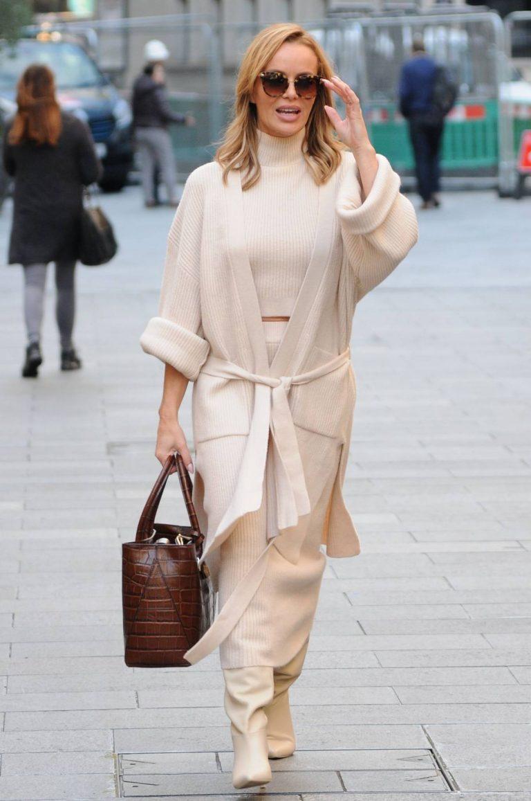 Amanda Holden spotted leaving Global Radio in London 02