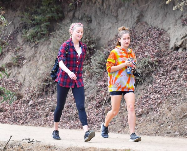 Amber Heard Out for a hike with a friend in Pasadena 21