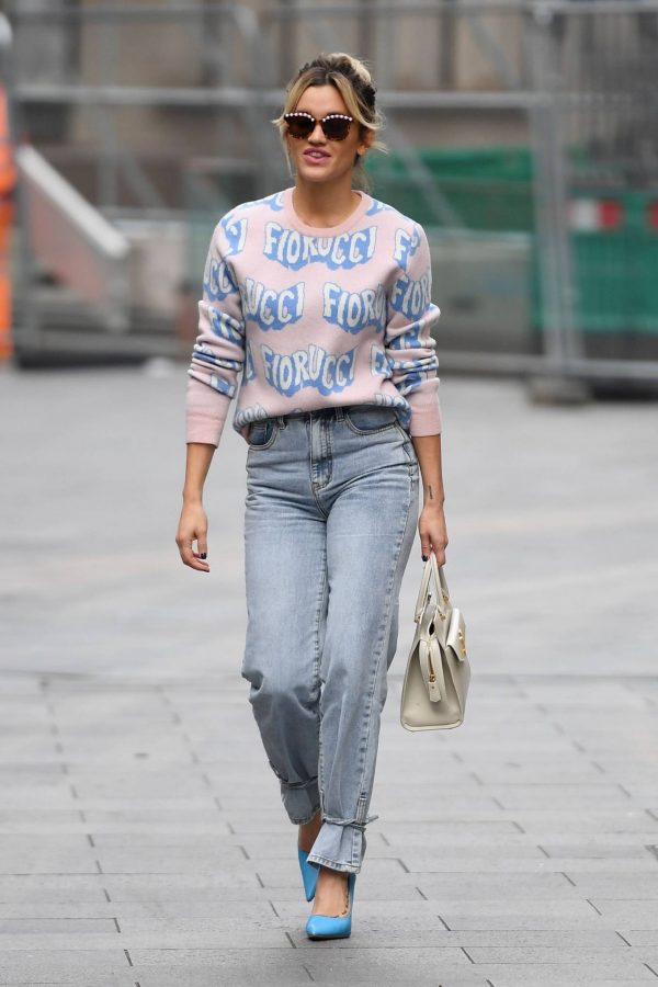 Ashley Roberts Pictured in denim at Heart radio show in London 02