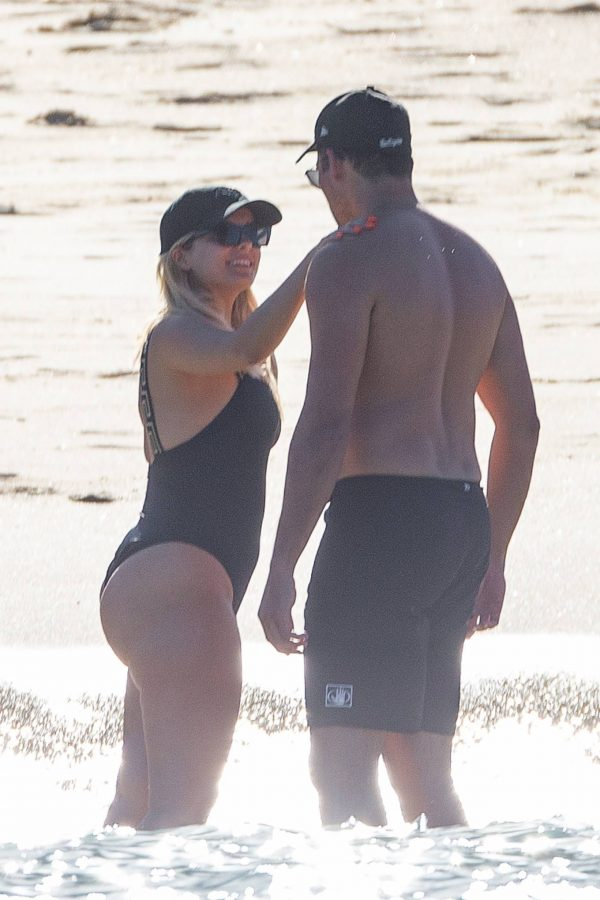 Bebe Rexha In a black swimwear on the beach in Cabo San Lucas 20