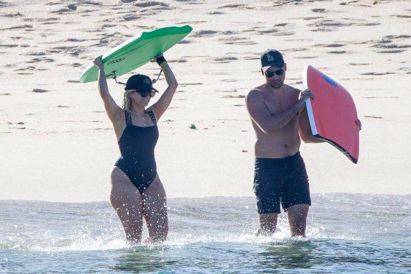 Bebe Rexha In a black swimwear on the beach in Cabo San Lucas 28