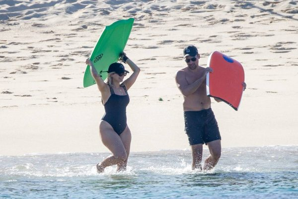 Bebe Rexha In a black swimwear on the beach in Cabo San Lucas 49