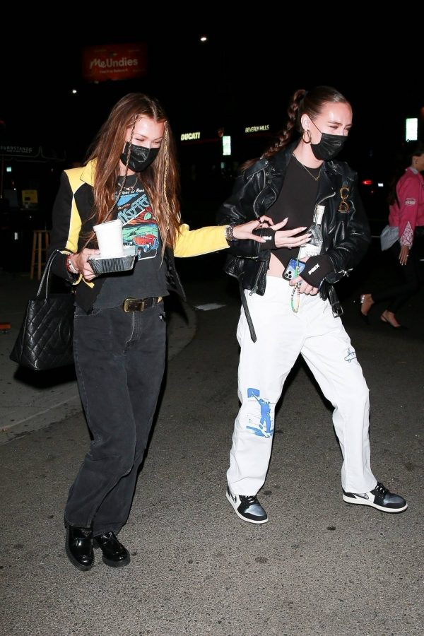 Bella Hadid Girls night out in Beverly Hills 06