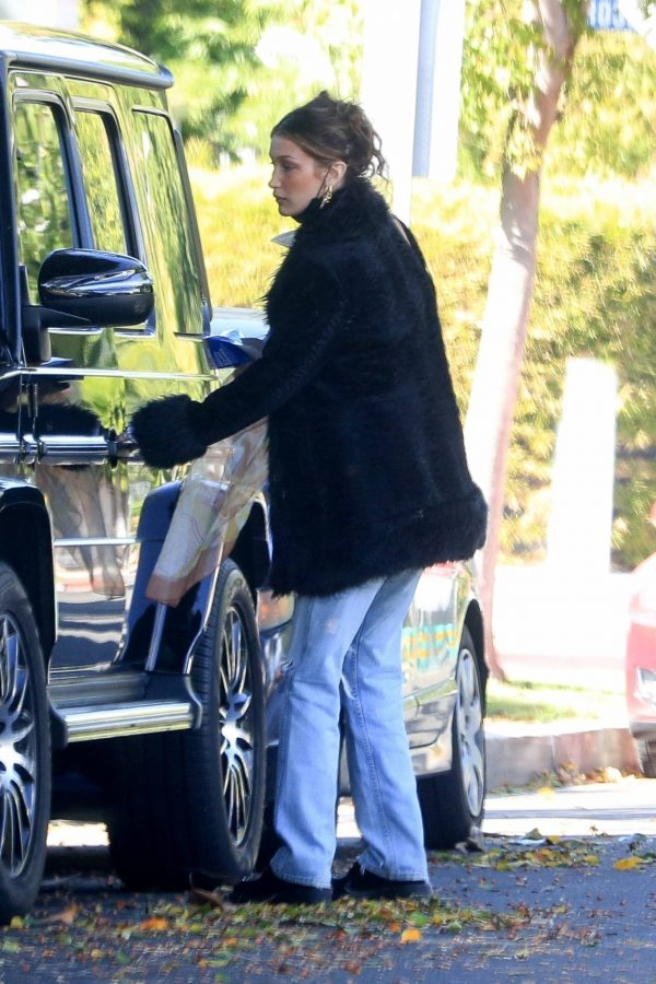 Bella Hadid leaves a friends house in Beverly Hills 01