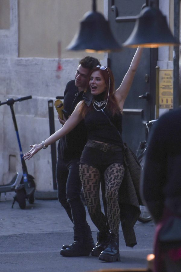 Bella Thorne on PDA with boyfriend singer Benjamin Mascolo in Rome 02