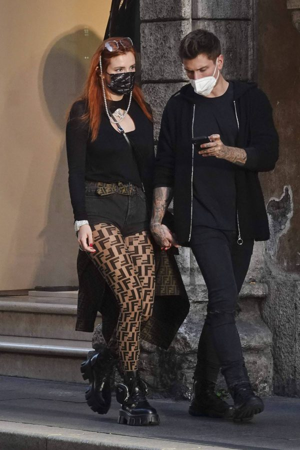 Bella Thorne on PDA with boyfriend singer Benjamin Mascolo in Rome 05