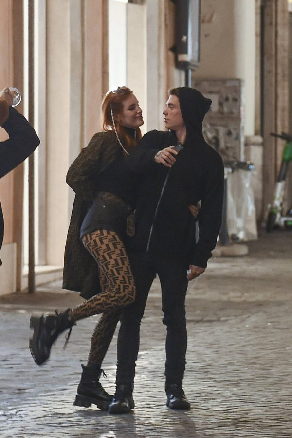 Bella Thorne on PDA with boyfriend singer Benjamin Mascolo in Rome 06