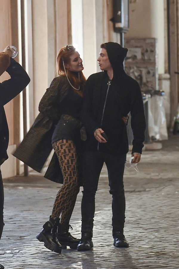 Bella Thorne on PDA with boyfriend singer Benjamin Mascolo in Rome 07