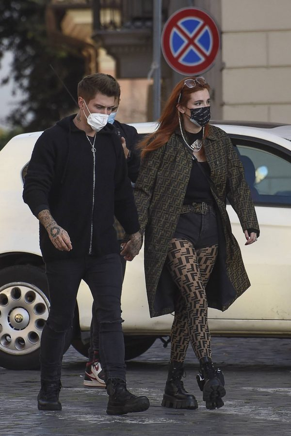 Bella Thorne on PDA with boyfriend singer Benjamin Mascolo in Rome 11