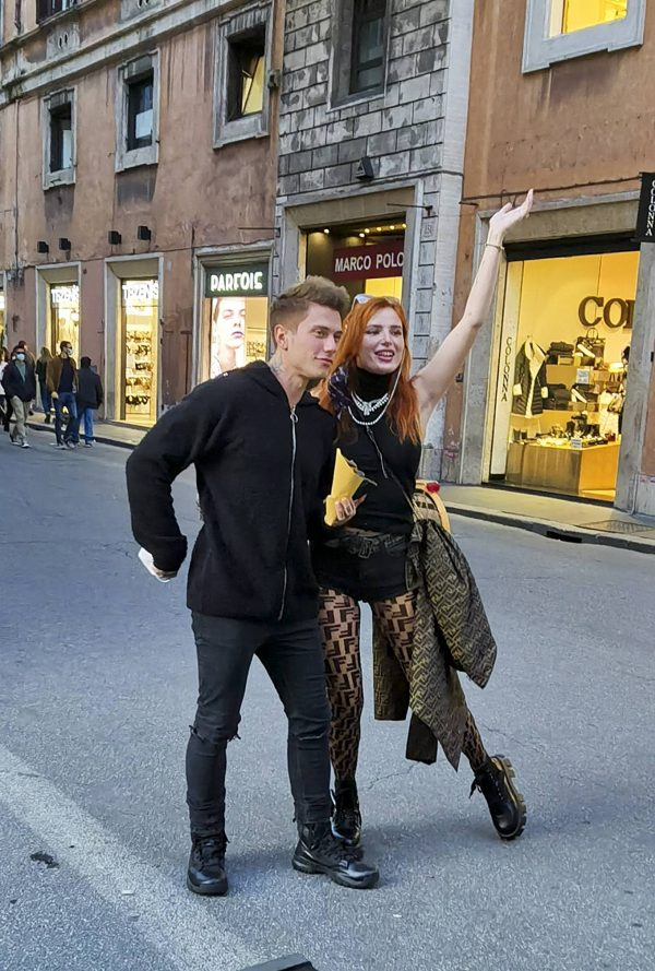 Bella Thorne on PDA with boyfriend singer Benjamin Mascolo in Rome 18