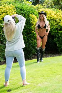 Bianca Gascoigne In a bikini for 2021 Calendar photoshoot in Lanzarote 01